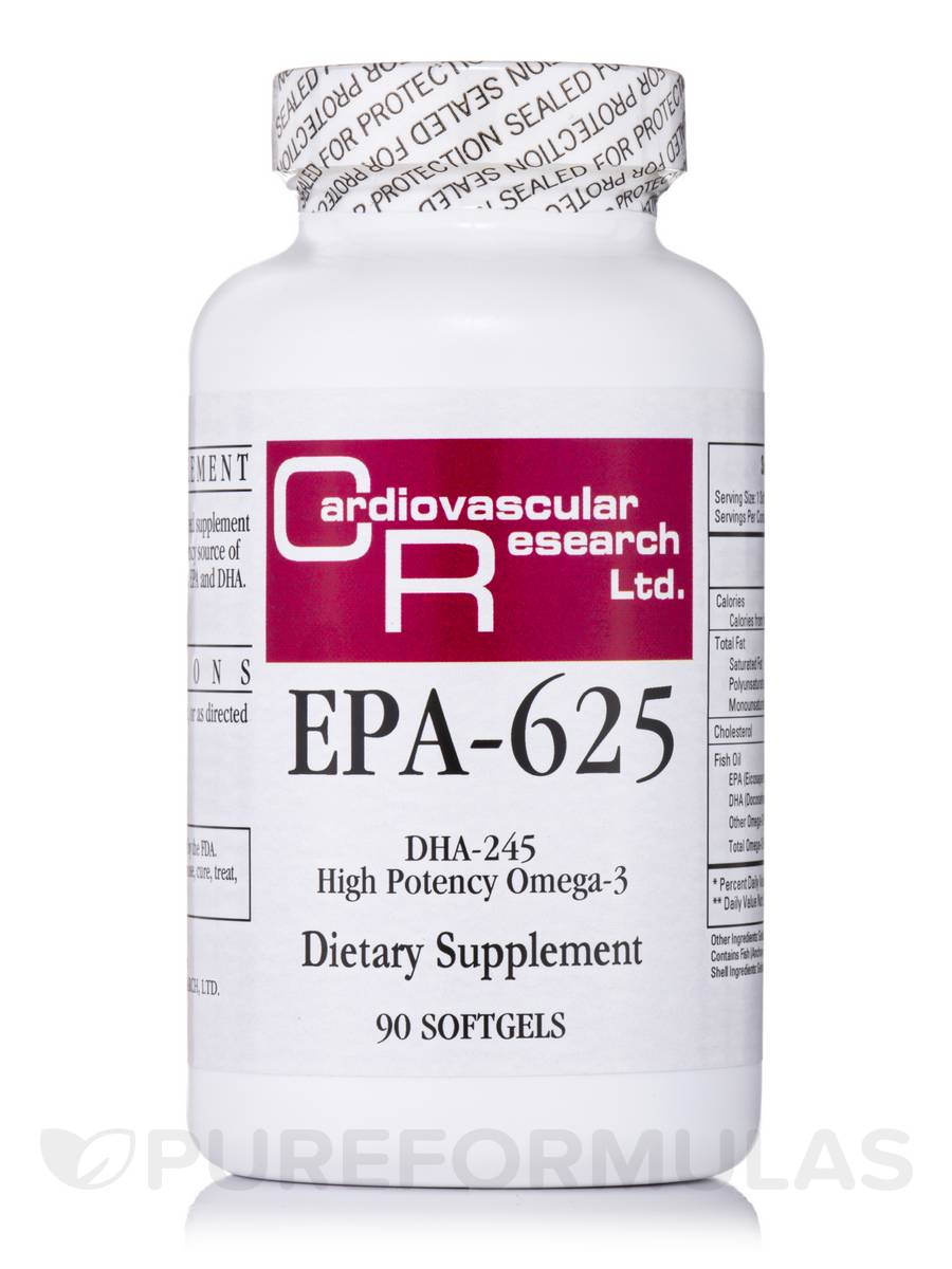 EPA-625 (DHA-245 High Potency Omega-3) - 90 Softgels