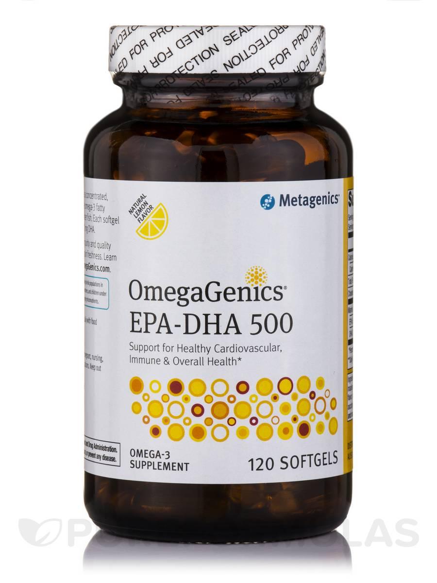 OmegaGenics® EPA-DHA 500 Natural Lemon Flavored - 120 Softgels