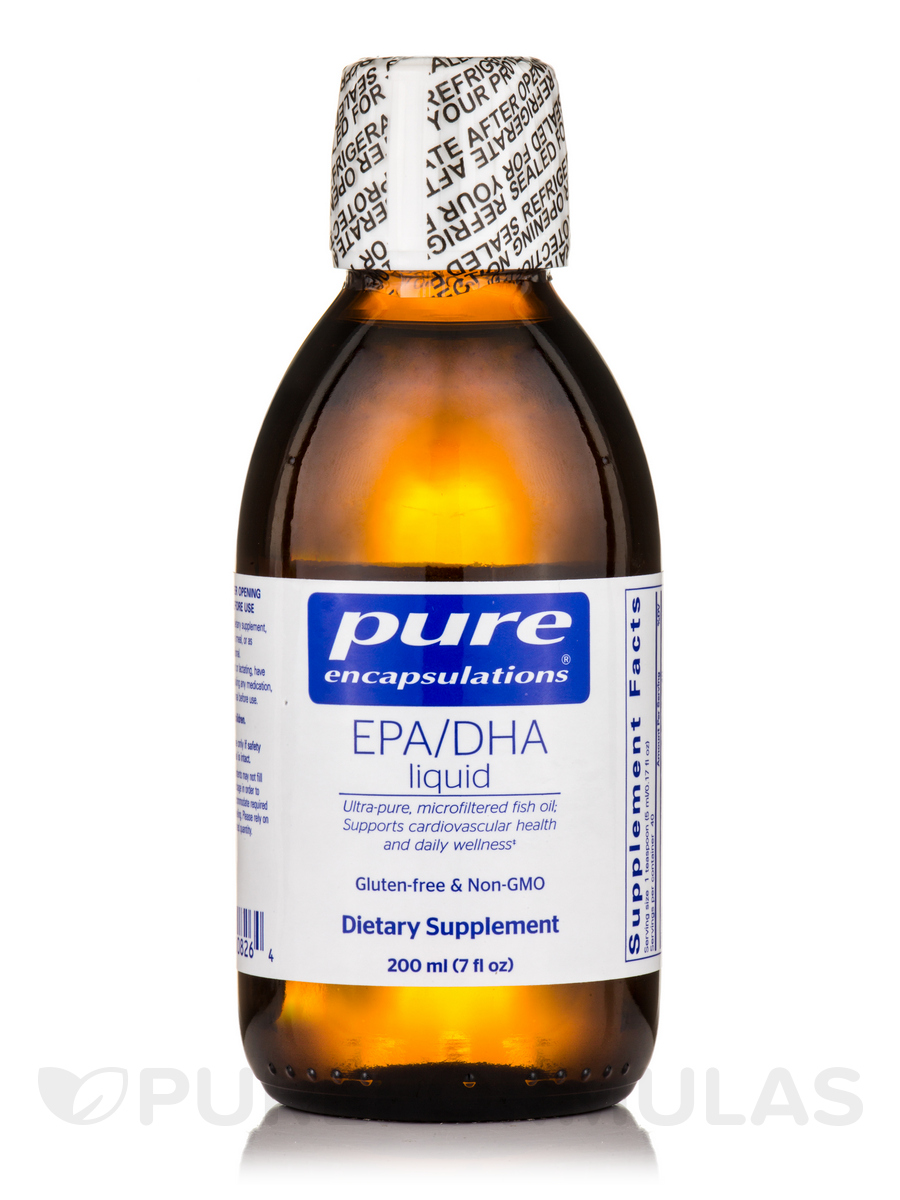 EPA/DHA Liquid, Lemon Flavor - 7 fl. oz (200 ml)