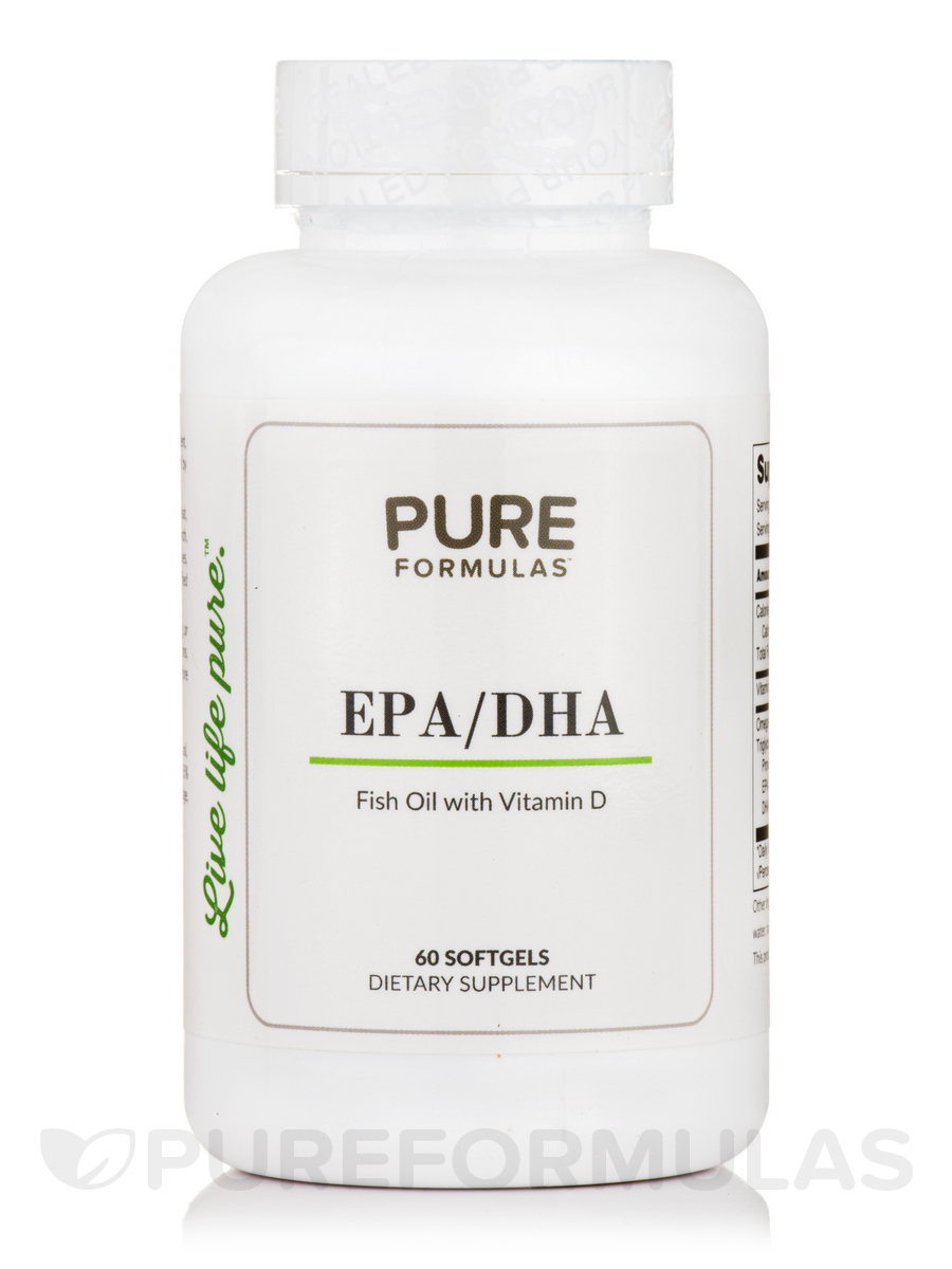 EPA/DHA Fish Oil with Vitamin D - 60 Softgels