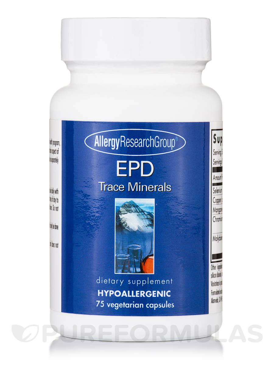 EPD Trace Minerals - 75 Vegetarian Capsules