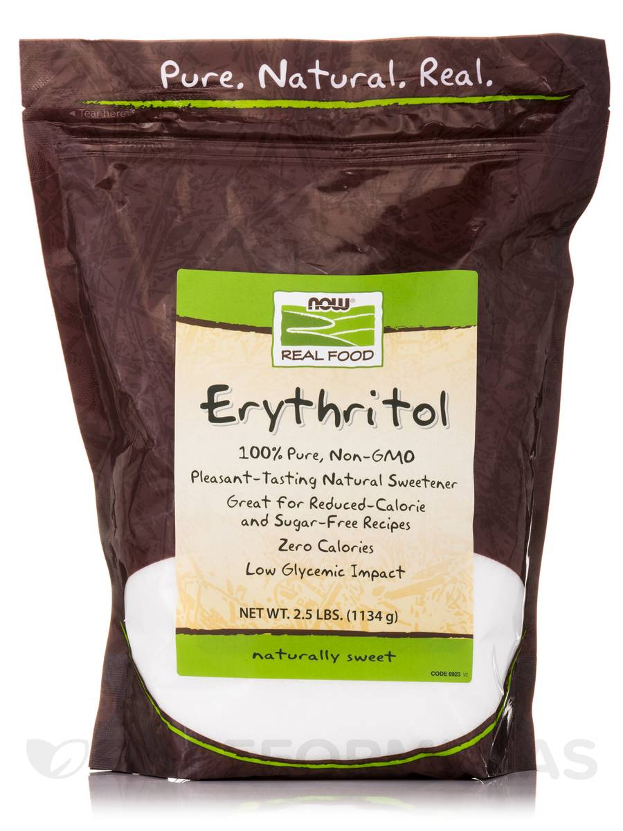 NOW® Real Food - Erythritol Natural Sweetener - 2.5 lbs (1134 Grams)