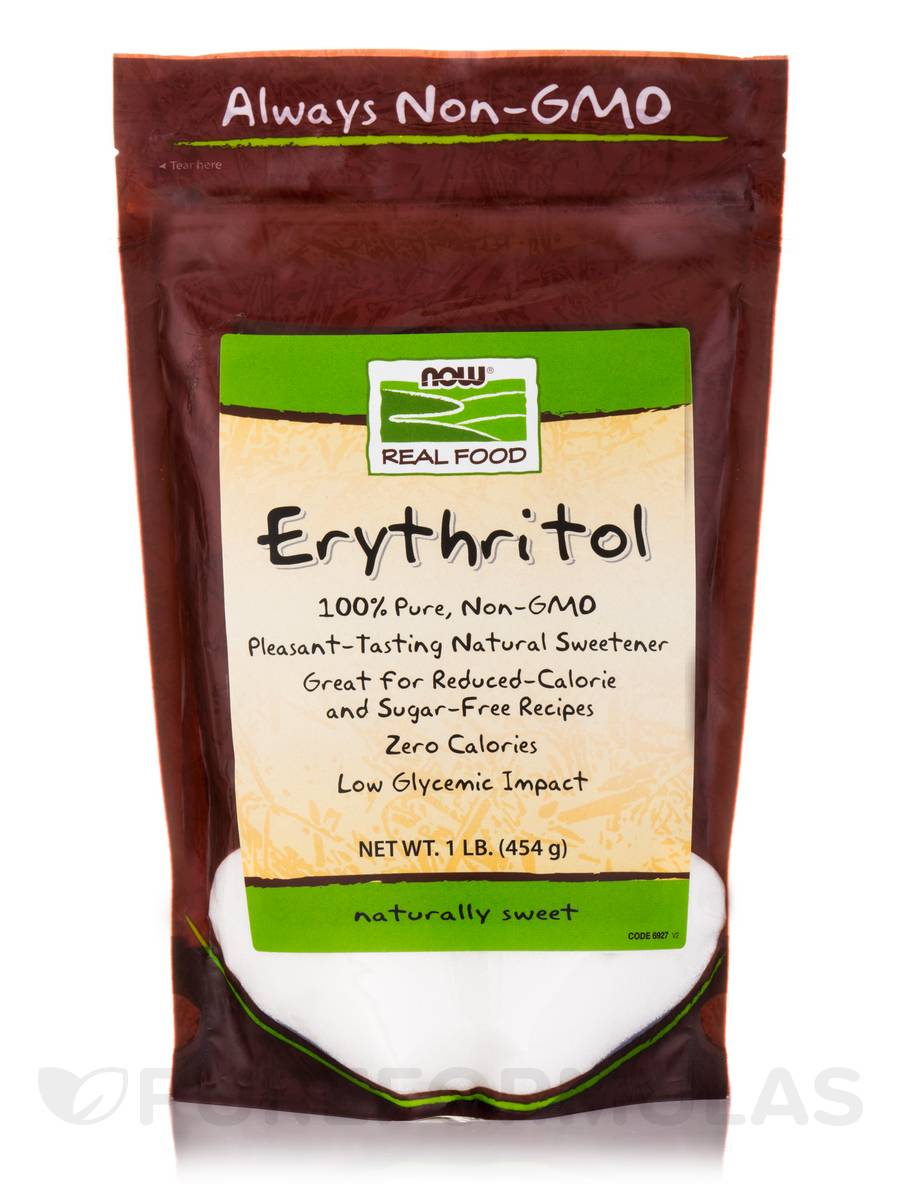 NOW Real Food® - Erythritol Natural Sweetener - 1 lb (454 Grams)