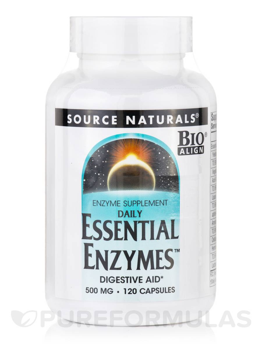 Daily Essential Enzymes™ 500 mg - 120 Capsules