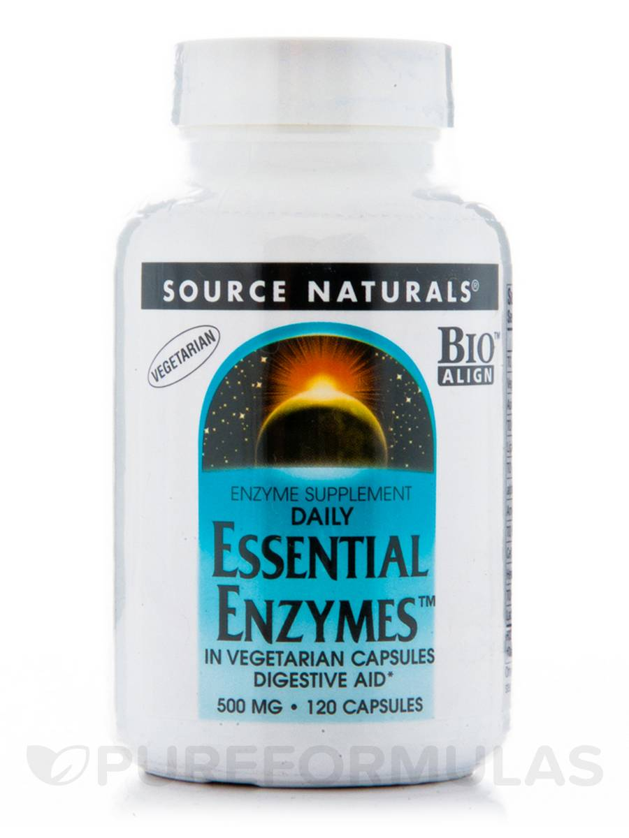 Essential Enzymes 500 mg - 120 Vegetarian Capsules