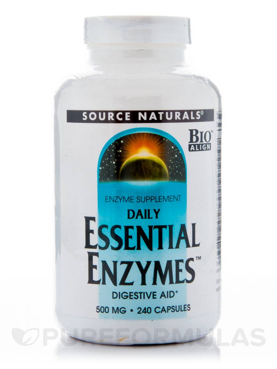 Essential Enzymes 500 mg - 240 Capsules
