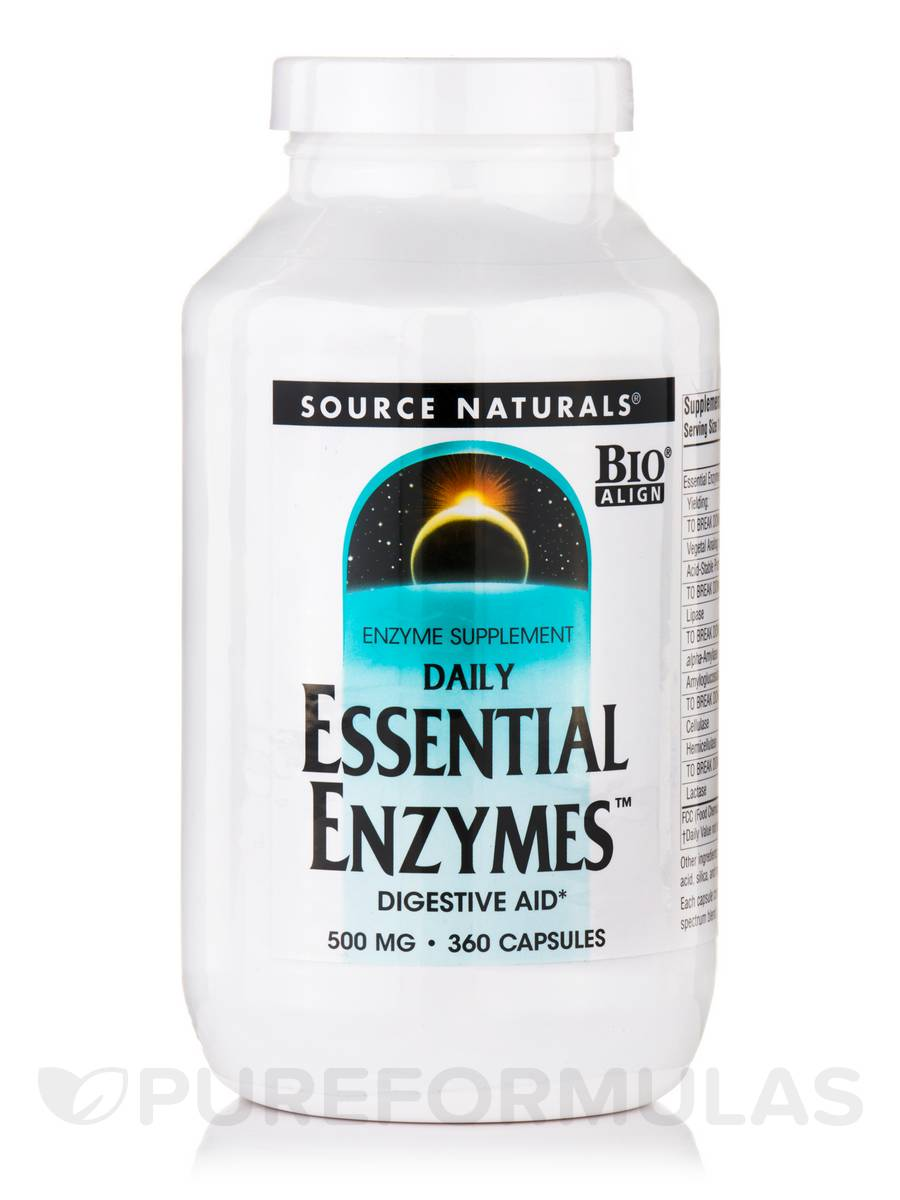 Daily Essential Enzymes™ 500 mg - 360 Capsules