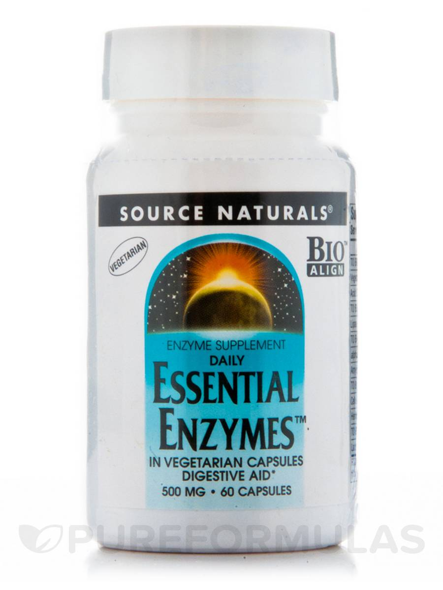 Essential Enzymes 500 mg - 60 Vegetarian Capsules
