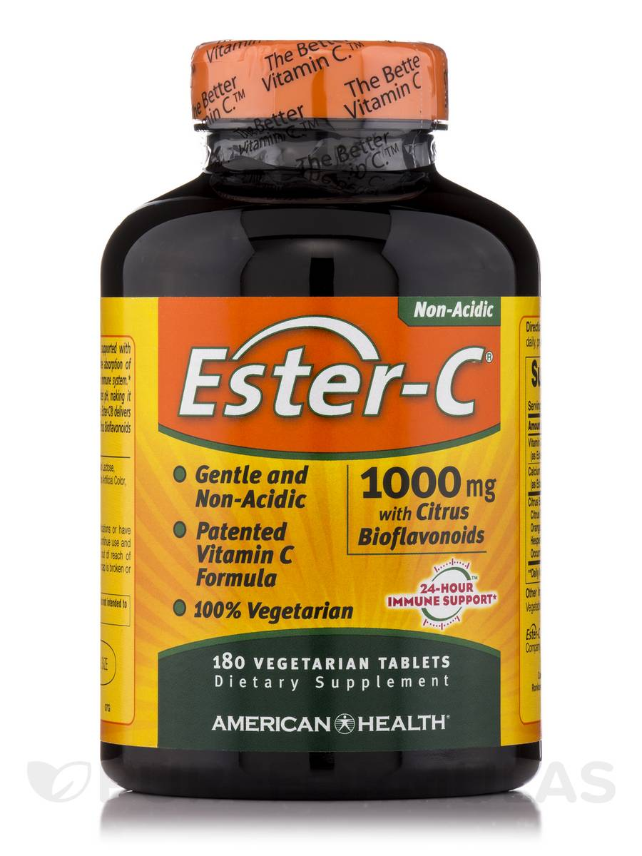 Ester-C® 1000 mg with Citrus Bioflavonoids - 180 Vegetable Tablets