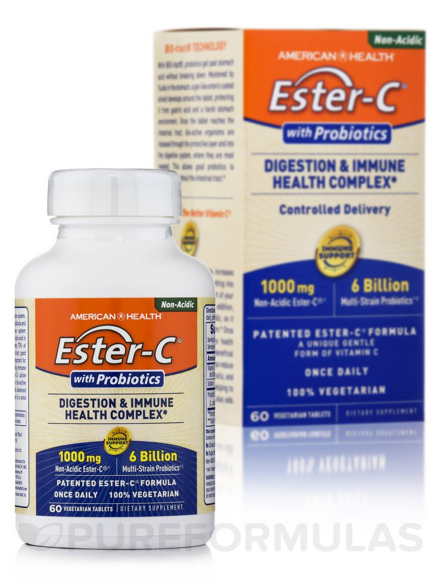 Ester-C® with Probiotics - 60 Vegetable Tablets