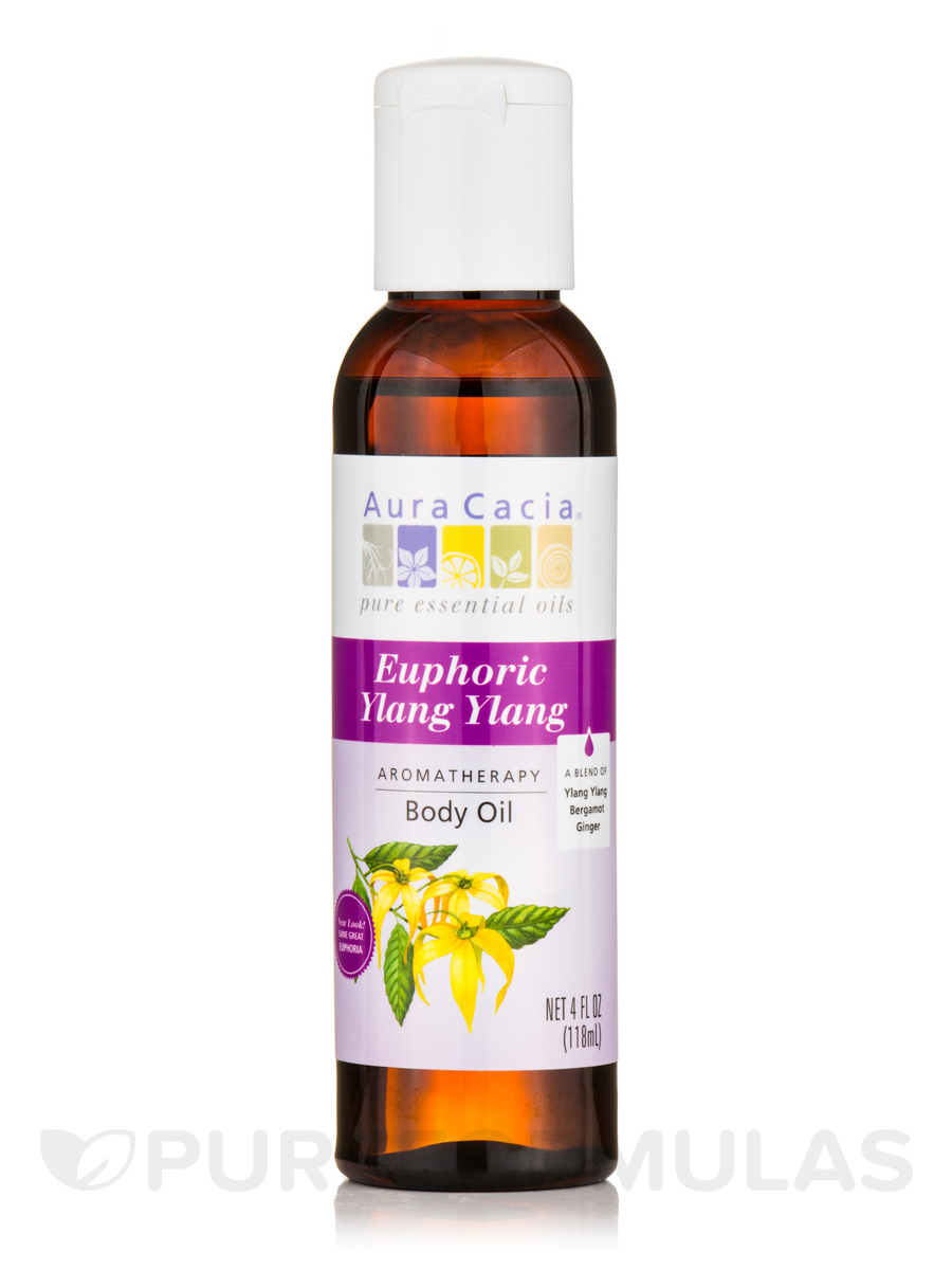 Euphoria Ylang Ylang Aromatherapy Body Oil with Vitamin E - 4 fl. oz (118 ml)
