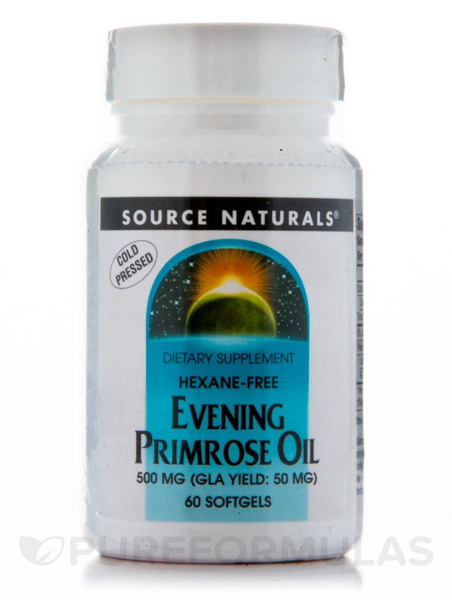Evening Primrose Oil 500 mg - 60 Softgels
