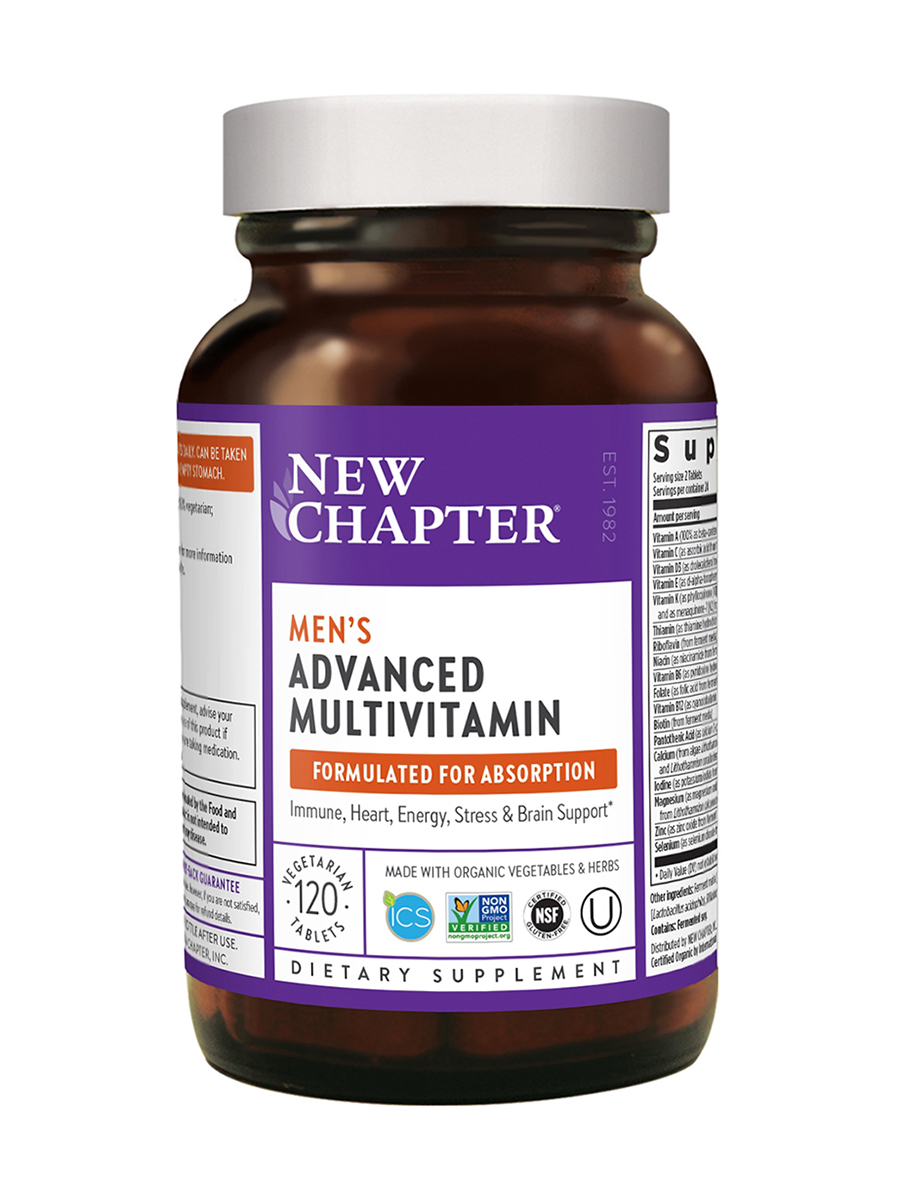 Men's Advanced Multivitamin (formerly Every Man Multivitamin) - 120 Vegetarian Tablets