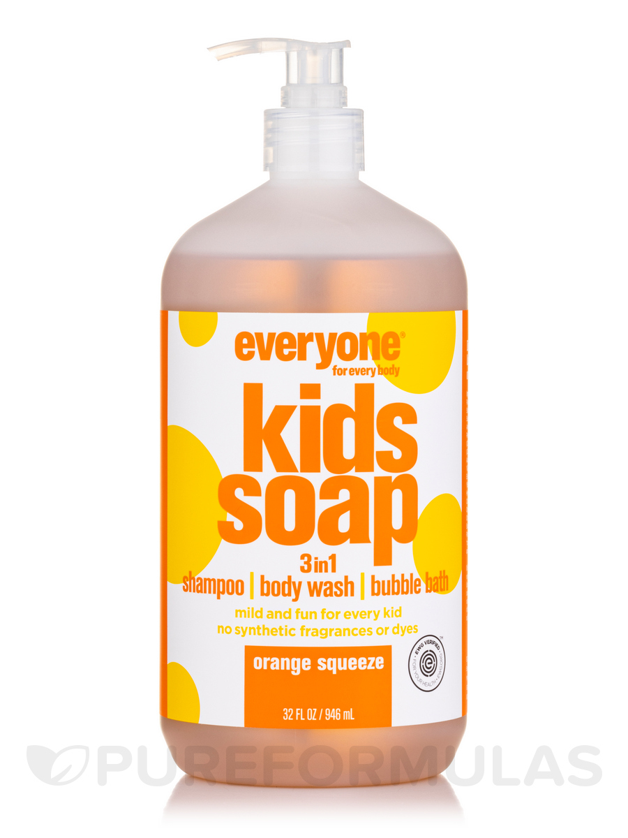 Everyone® Soap for Kids 3-In-1 (Head, Shoulders, Knees+Toes), Orange Squeeze - 32 fl. oz (946 ml)