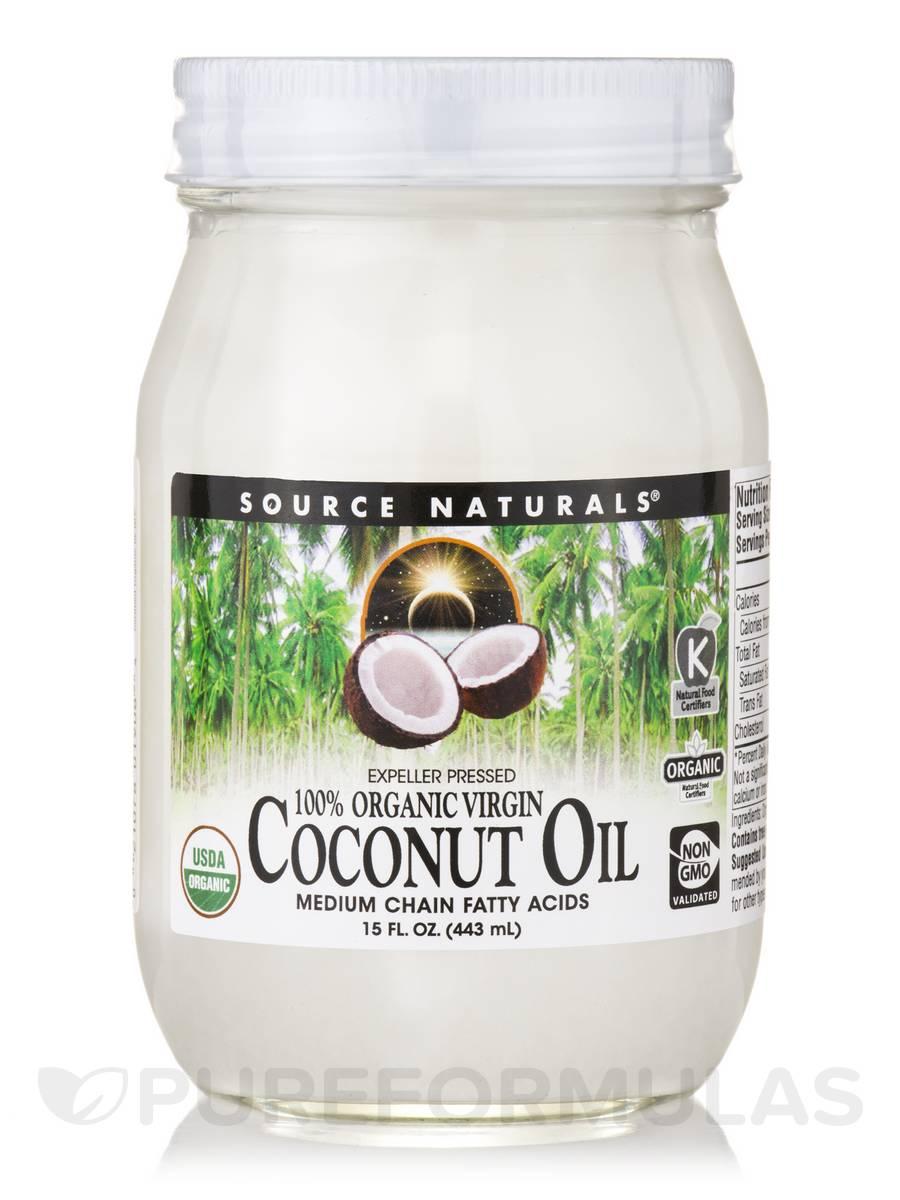 100% Organic Virgin Coconut Oil (Expeller Pressed) - 15 fl. oz (433 ml)
