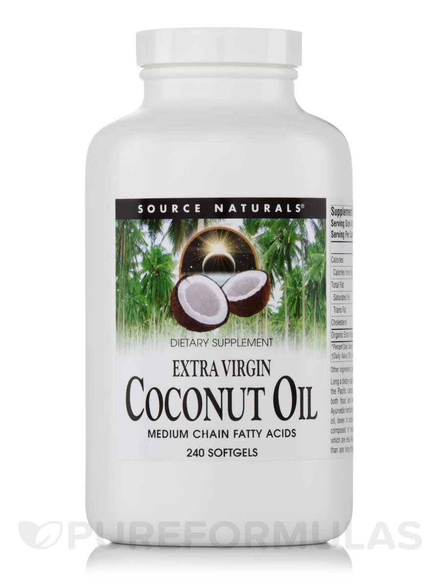 Extra Virgin Coconut Oil - 240 Softgels
