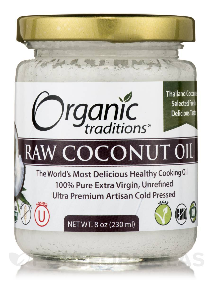 Raw Coconut Oil - 8 oz (230 ml)