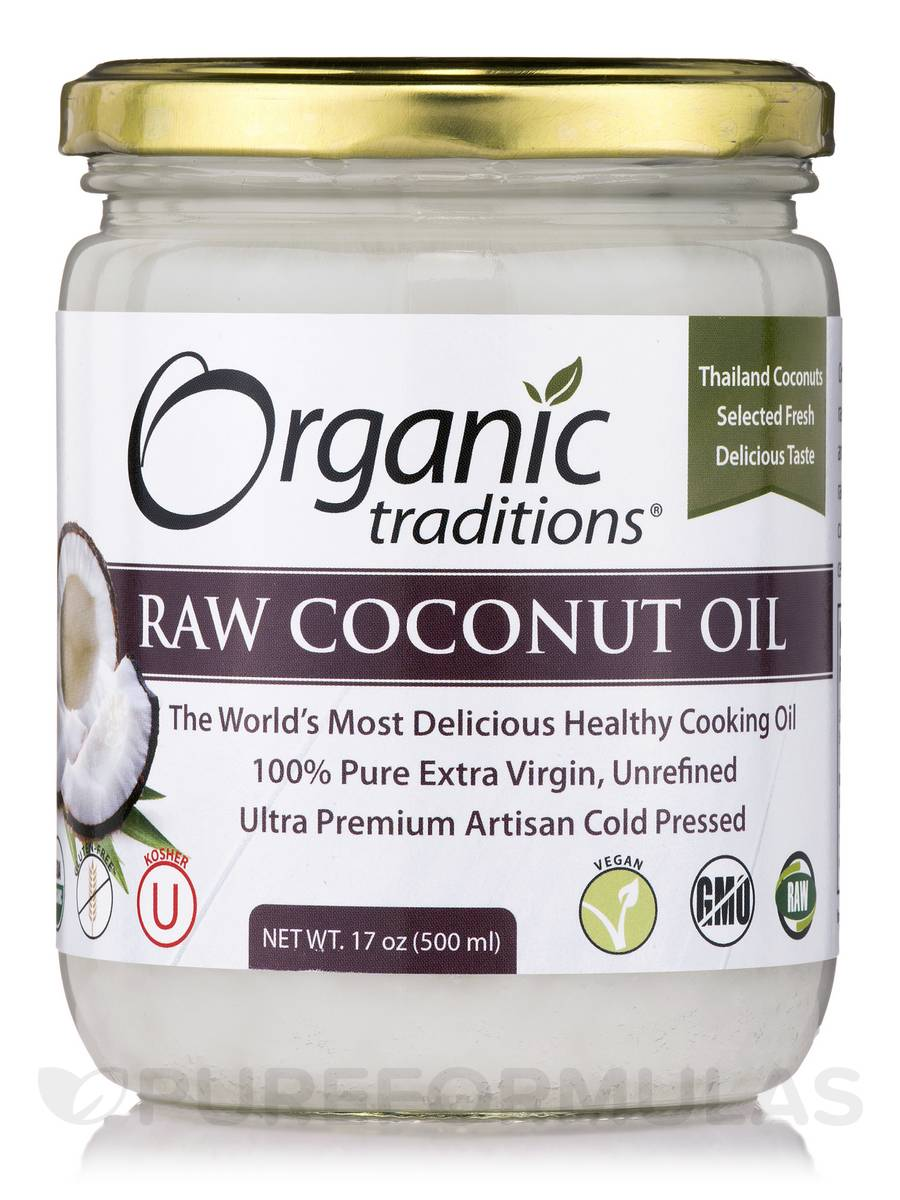 Raw Coconut Oil - 17 oz (500 ml)