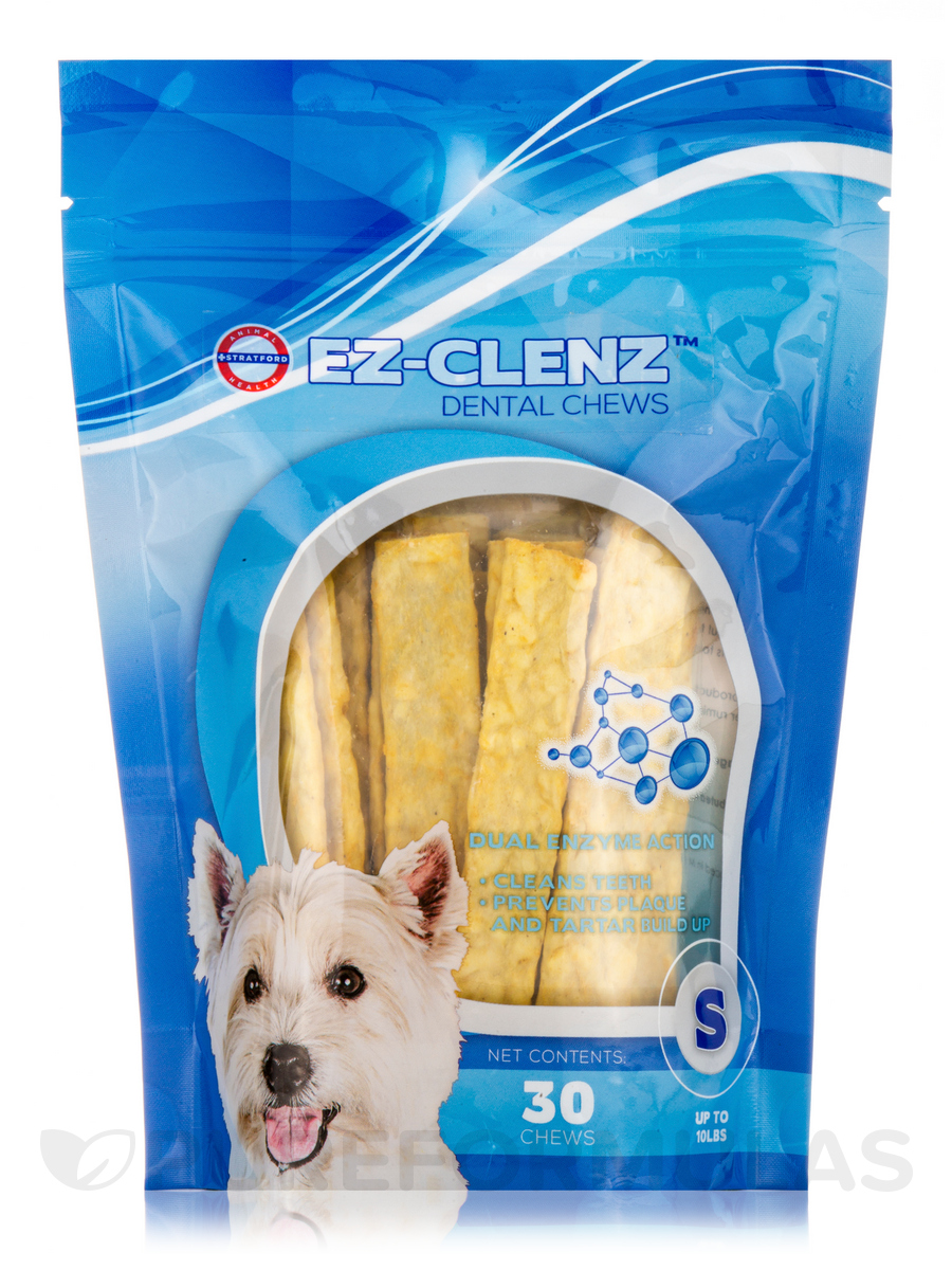 EZ-Clenz™ Enzymatic Dental Chews for Small Dogs (Up to 10 lbs) - 30 Chews