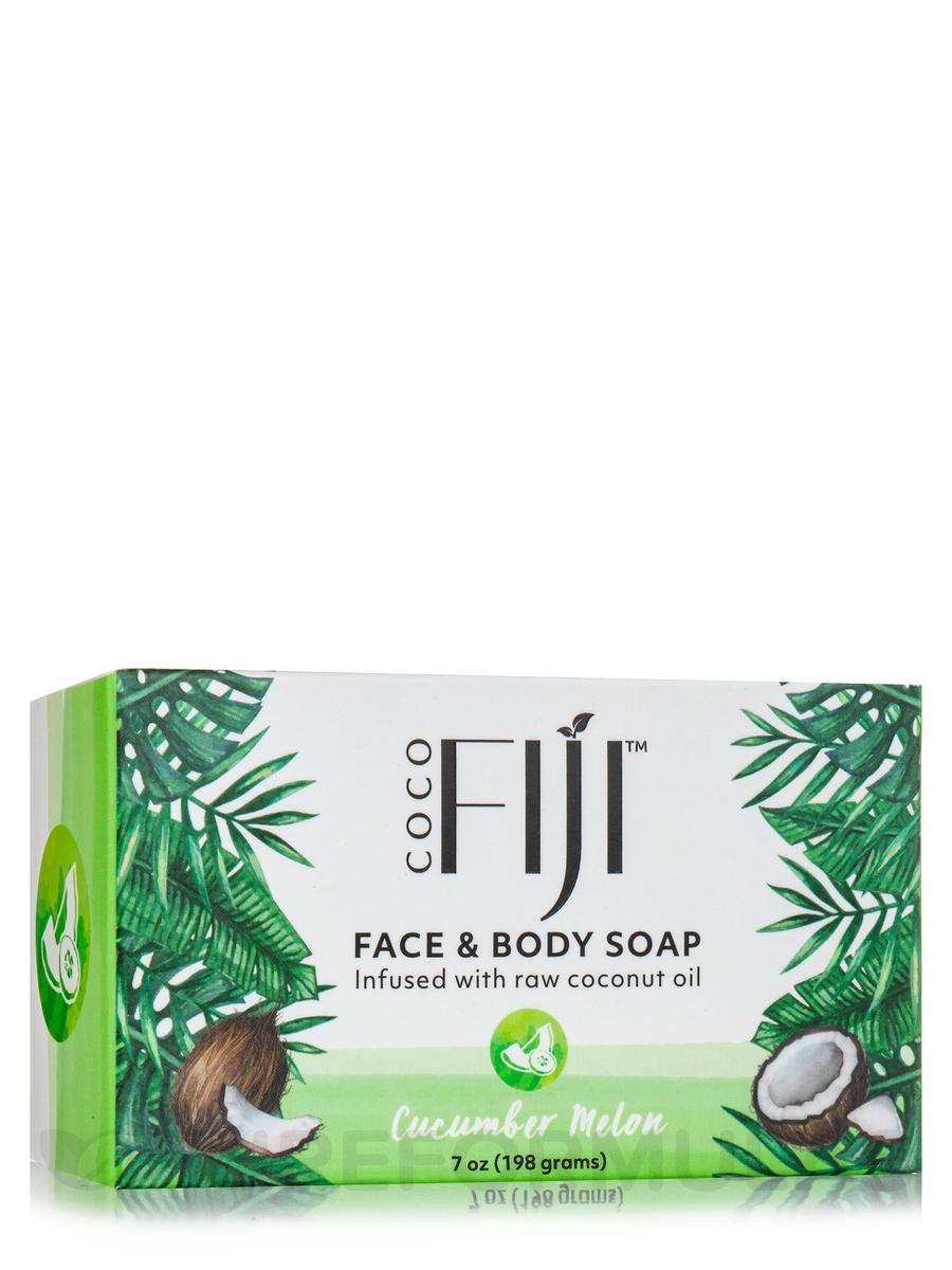 Coco Fiji™ Face & Body Coconut Oil Infused Bar Soap, Cucumber Melon - 7 oz (198 Grams)