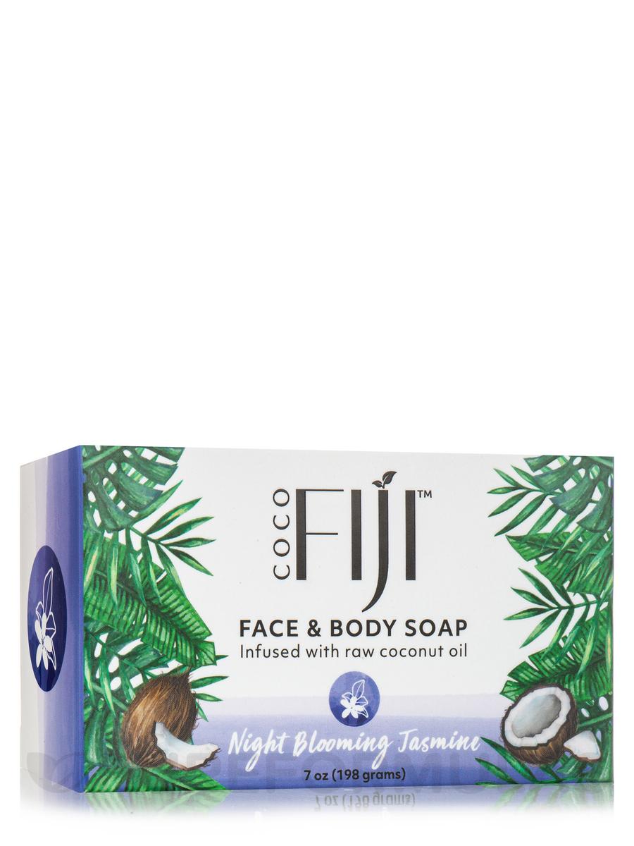 Coco Fiji™ Face & Body Coconut Oil Infused Bar Soap, Night Blooming Jasmine - 7 oz (198 Grams)