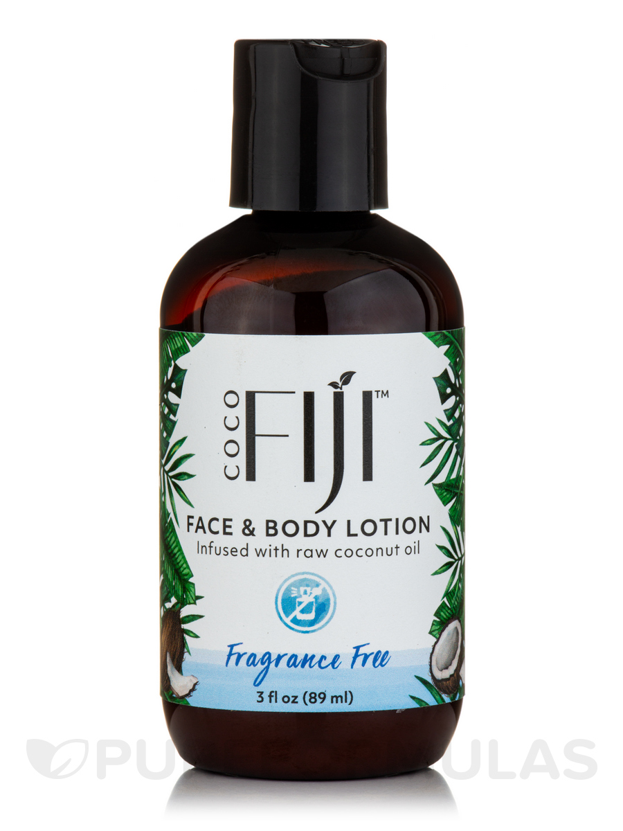 Coco Fiji™ Face & Body Coconut Oil Infused Lotion, Fragrance Free - 3 fl. oz (89 ml)