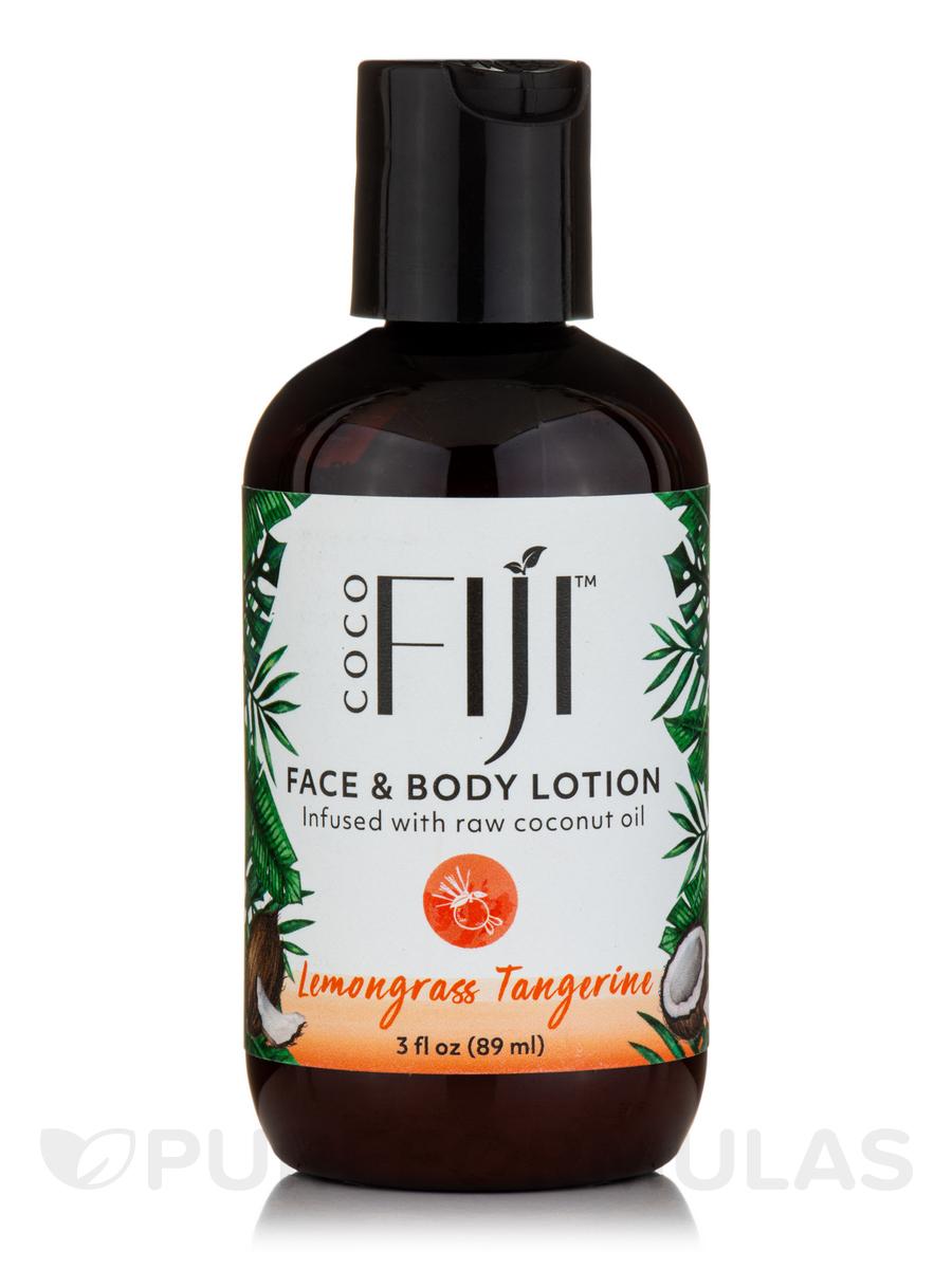 Coco Fiji™ Face & Body Coconut Oil Infused Lotion, Lemongrass Tangerine - 3 fl. oz (89 ml)