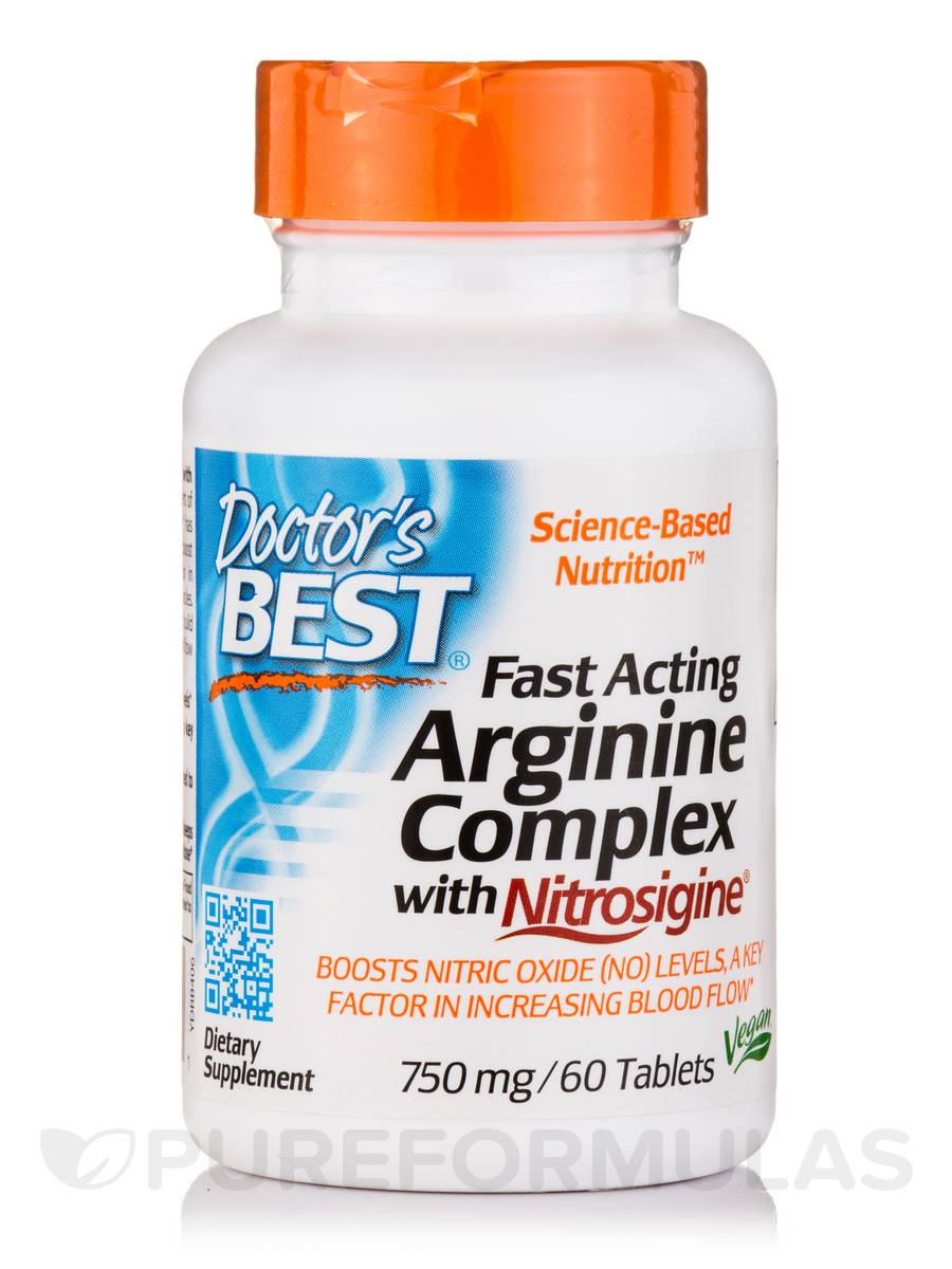 Fast Acting Arginine Complex with Nitrosigine® 750 mg - 60 Tablets
