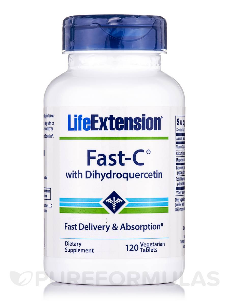 FAST-C® with Dihydroquercetin - 120 Vegetarian Tablets