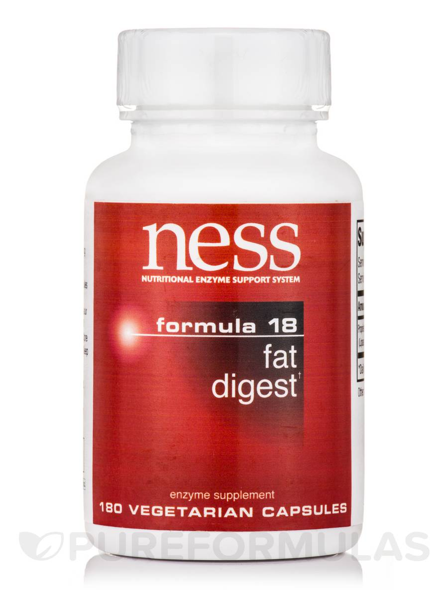 Fat Digest (Formula 18) - 180 Vegetarian Capsules