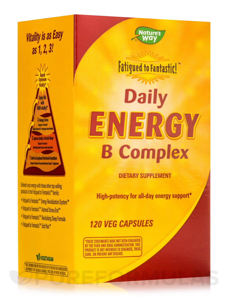 Fatigued to Fantastic! Daily Energy B Complex - 120 Vegetarian Capsules