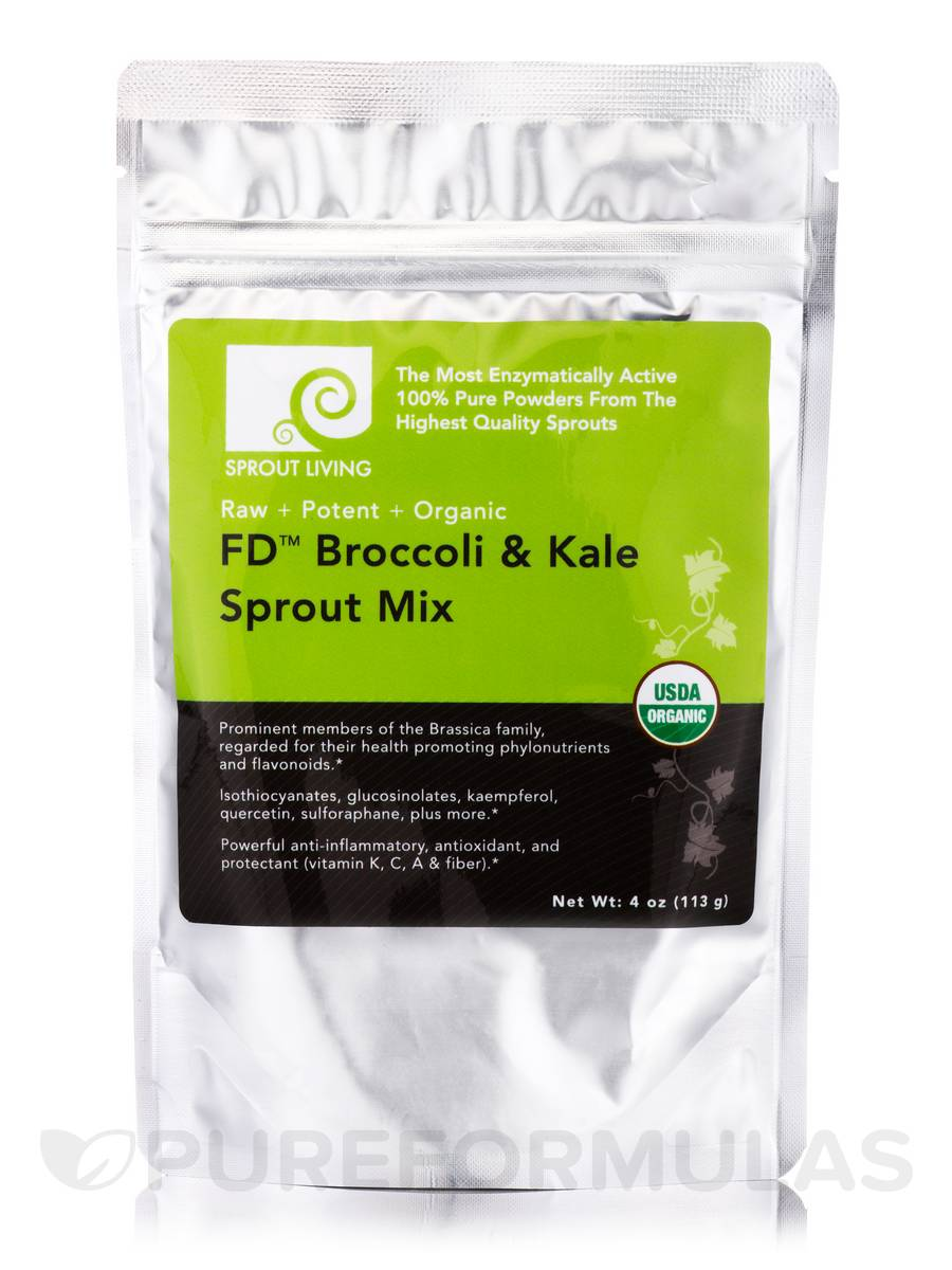 FD™ Broccoli & Kale Sprout Mix - 4 oz (113 Grams)