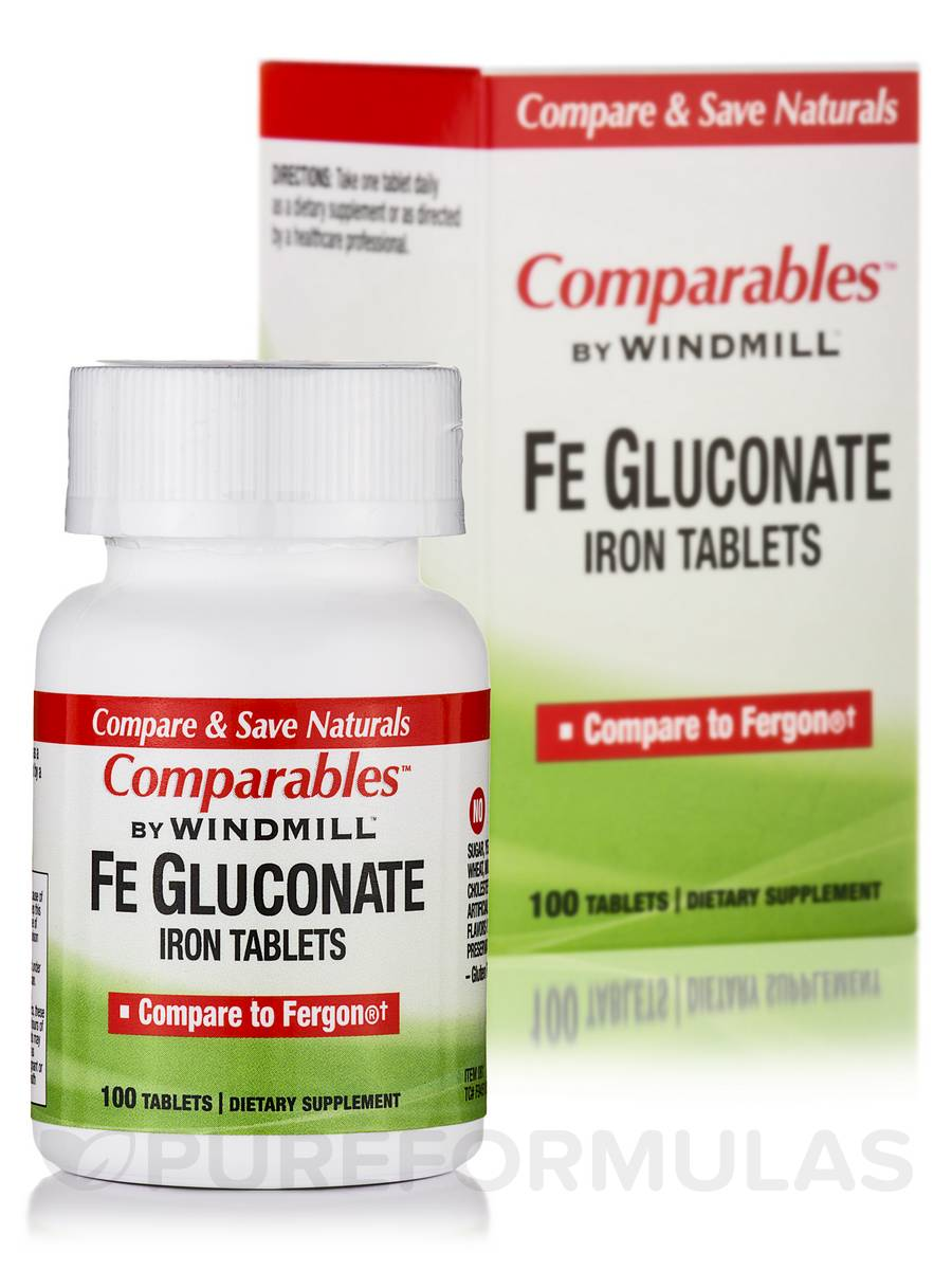 Fe Gluconate (Iron Tablets) - 100 Tablets