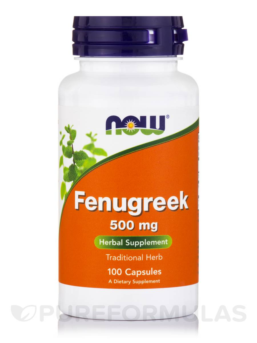 Fenugreek 500 mg - 100 Veg Capsules