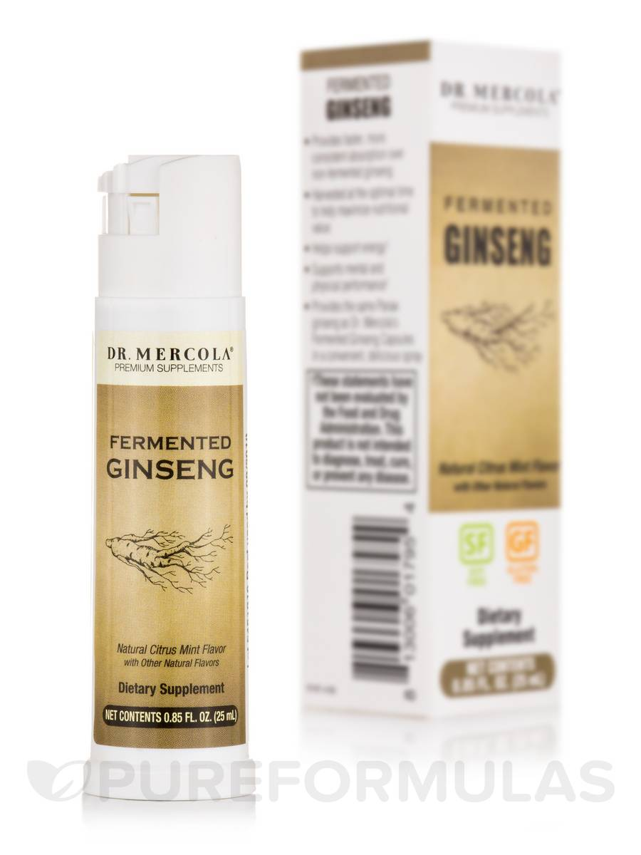 Fermented Ginseng Spray, Natural Citrus Mint Flavor - 0.85 fl. oz (25 ml)