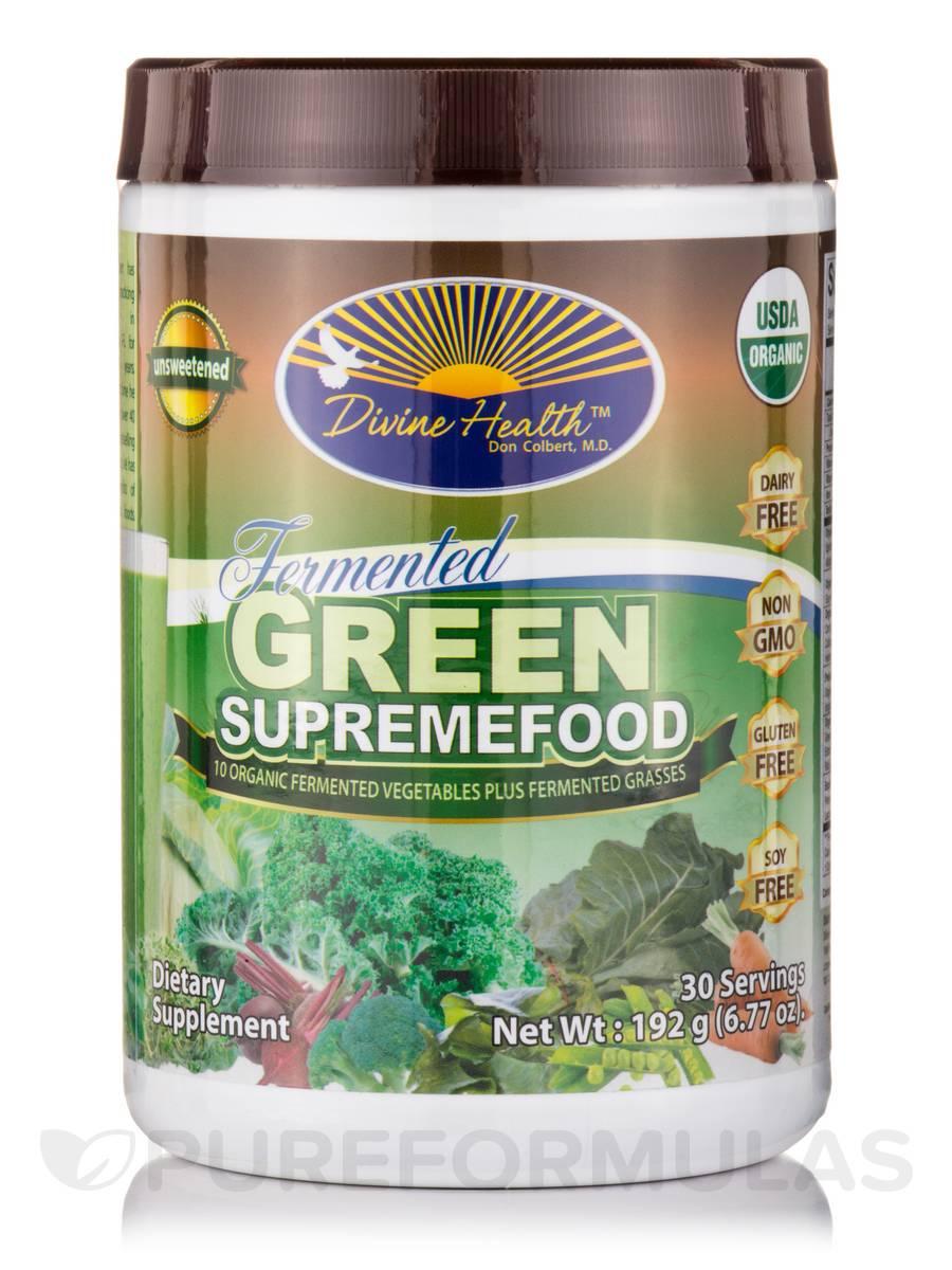 Fermented Green SupremeFood, Unsweetened - 30 Servings (6.77 oz / 192 Grams)
