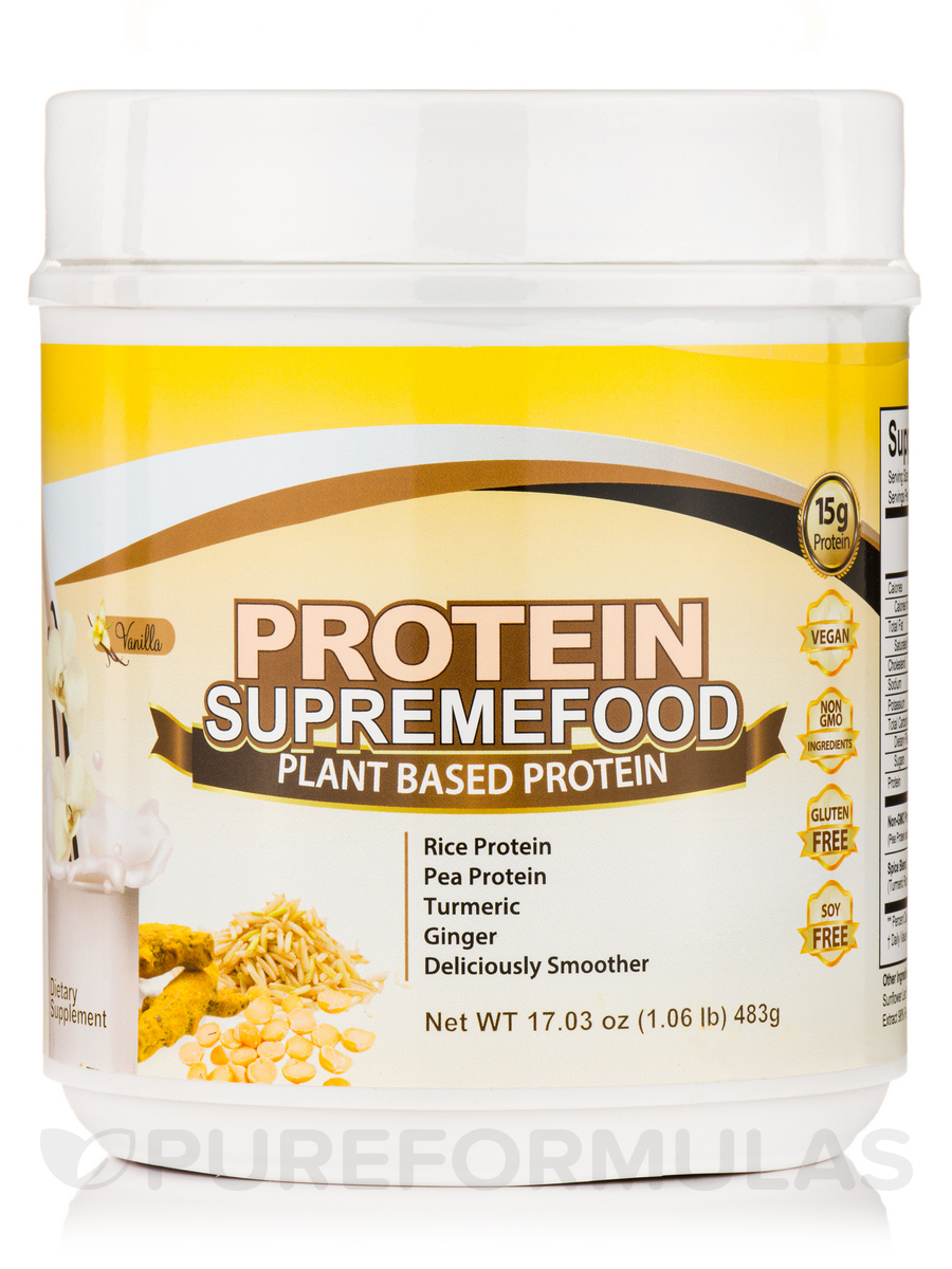 Fermented Protein Supremefood, Vanilla Flavor - 17.03 oz (483 Grams)