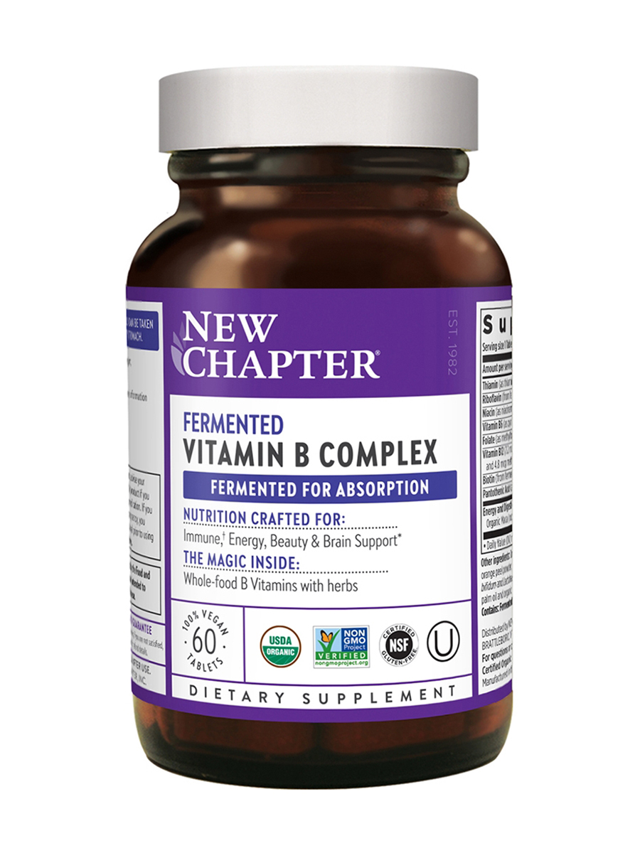 Fermented Vitamin B Complex - 60 Vegan Tablets