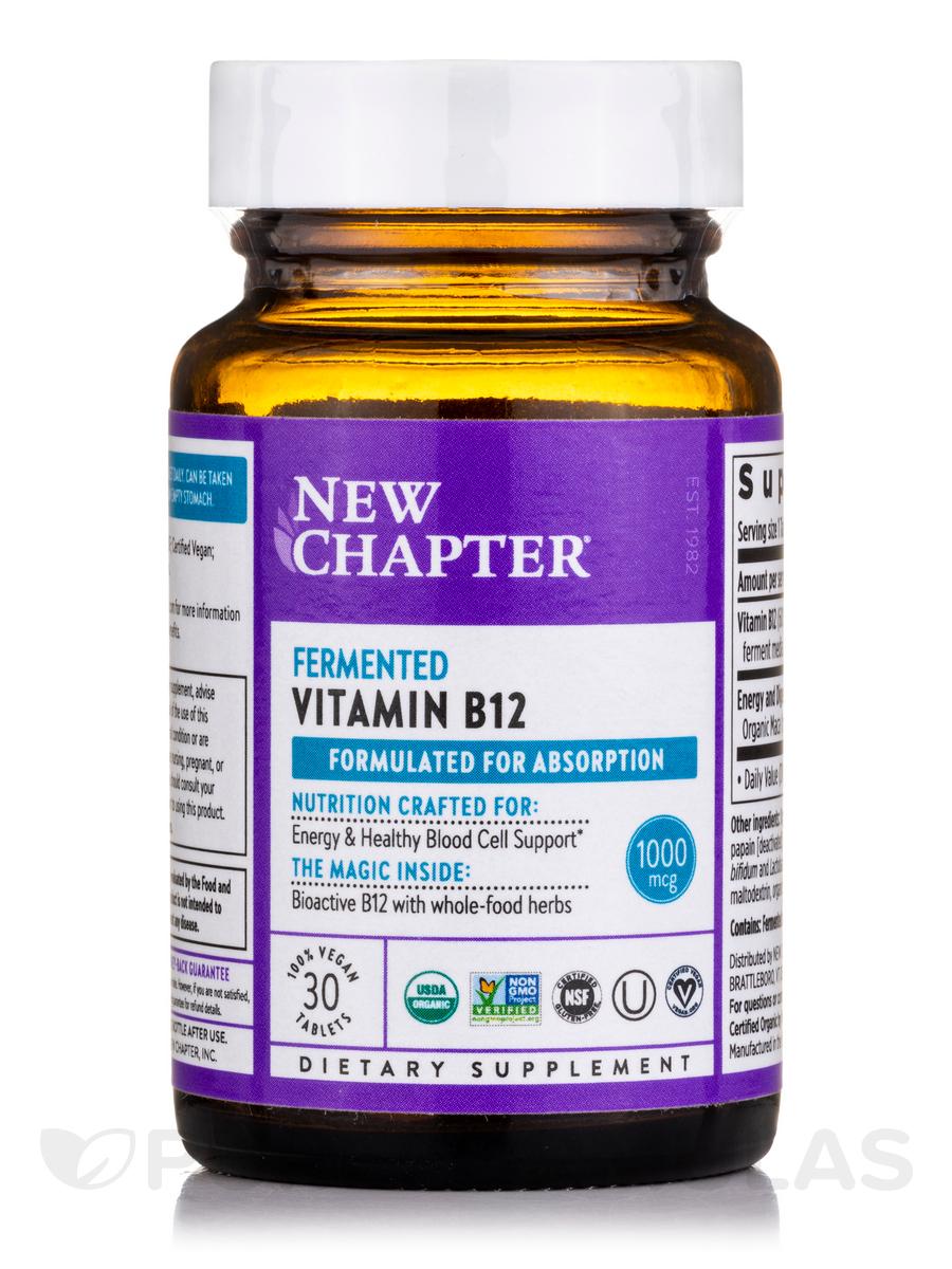 Fermented Vitamin B12 - 30 Vegan Tablets