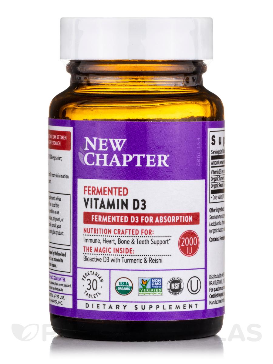 Fermented Vitamin D3 - 30 Vegetarian Tablets