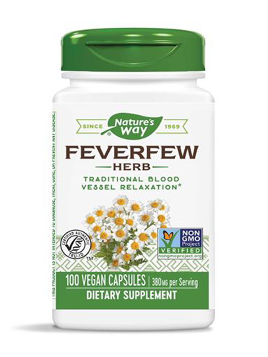 Feverfew Leaves 380 mg - 100 Capsules