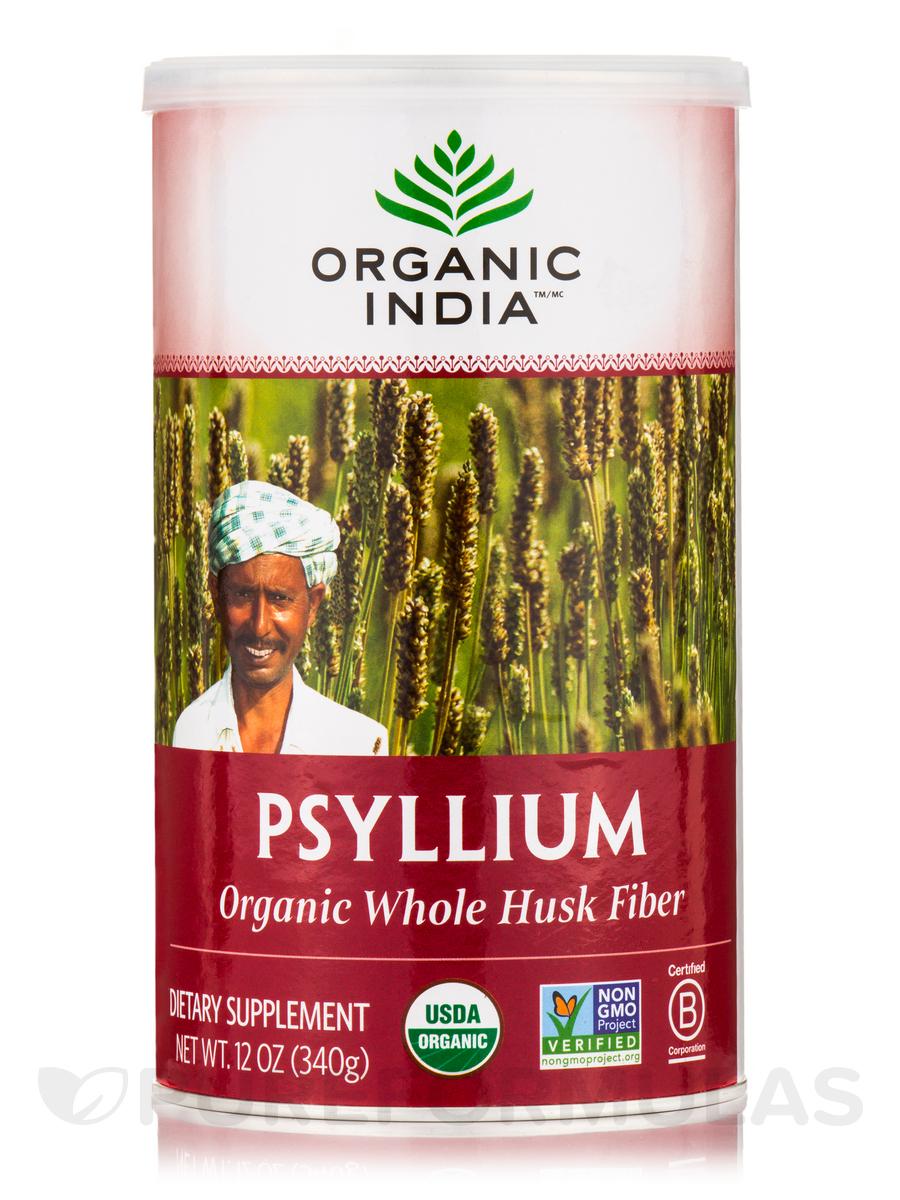 Organic Whole Husk Psyllium 12 Oz 340 Grams