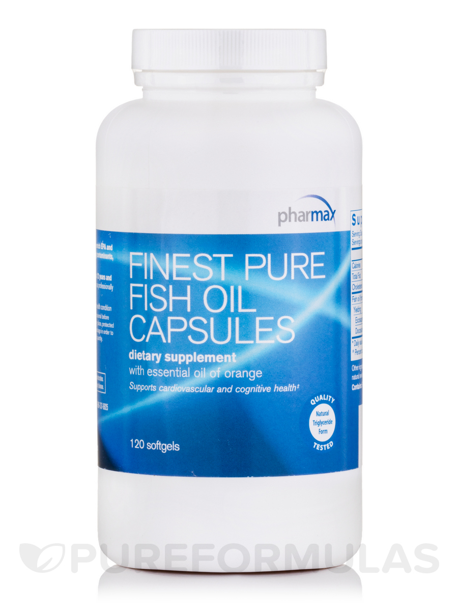 finest pure fish oil capsules orange 120 softgel capsules