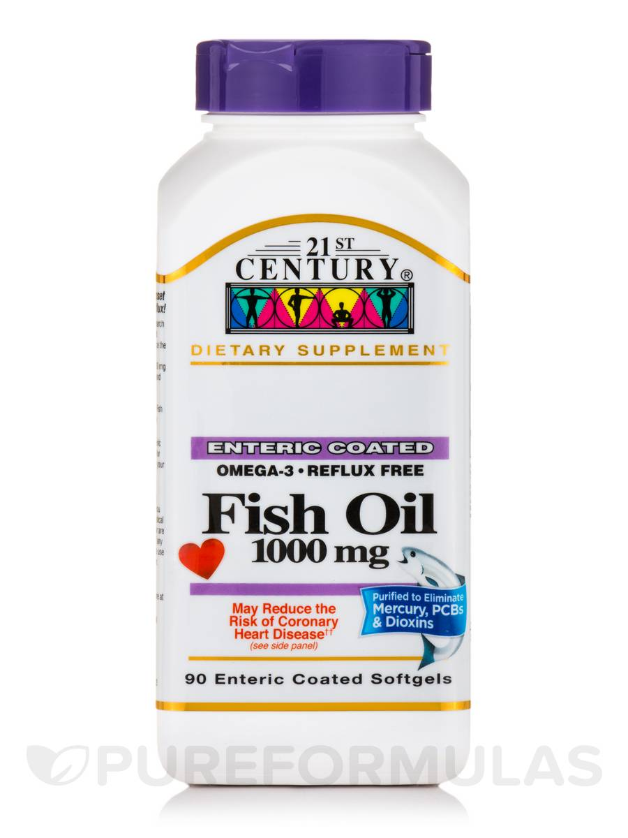 Fish Oil 1000 mg - 90 Enteric Coated Softgels