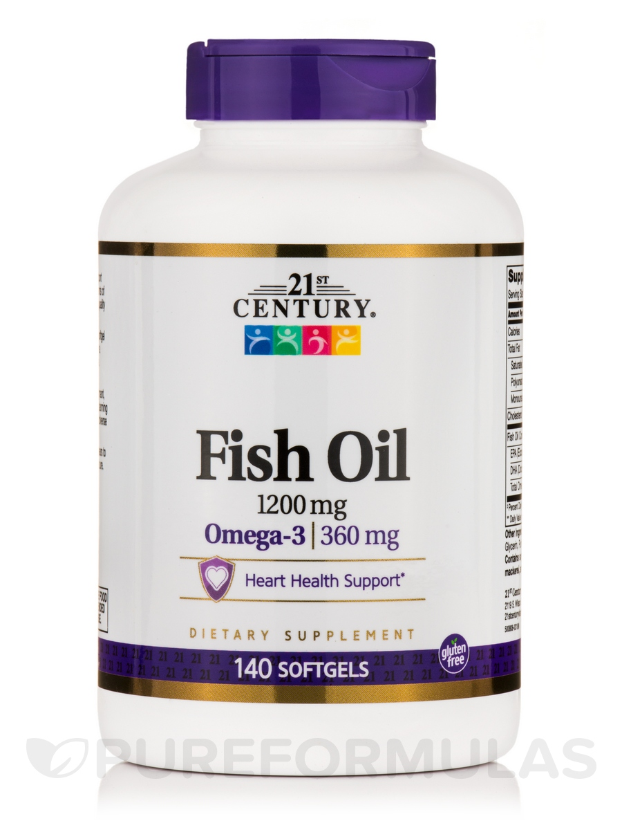 Fish Oil 1200 mg - 140 Softgels