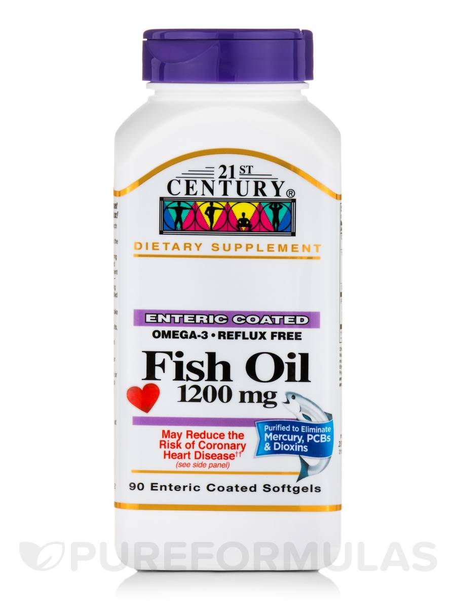 Fish Oil 1200 mg - 90 Enteric Coated Softgels