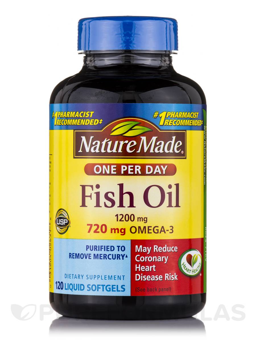Fish oil 1200 mg omega 3 720 mg 120 softgels for Top fish oil brands