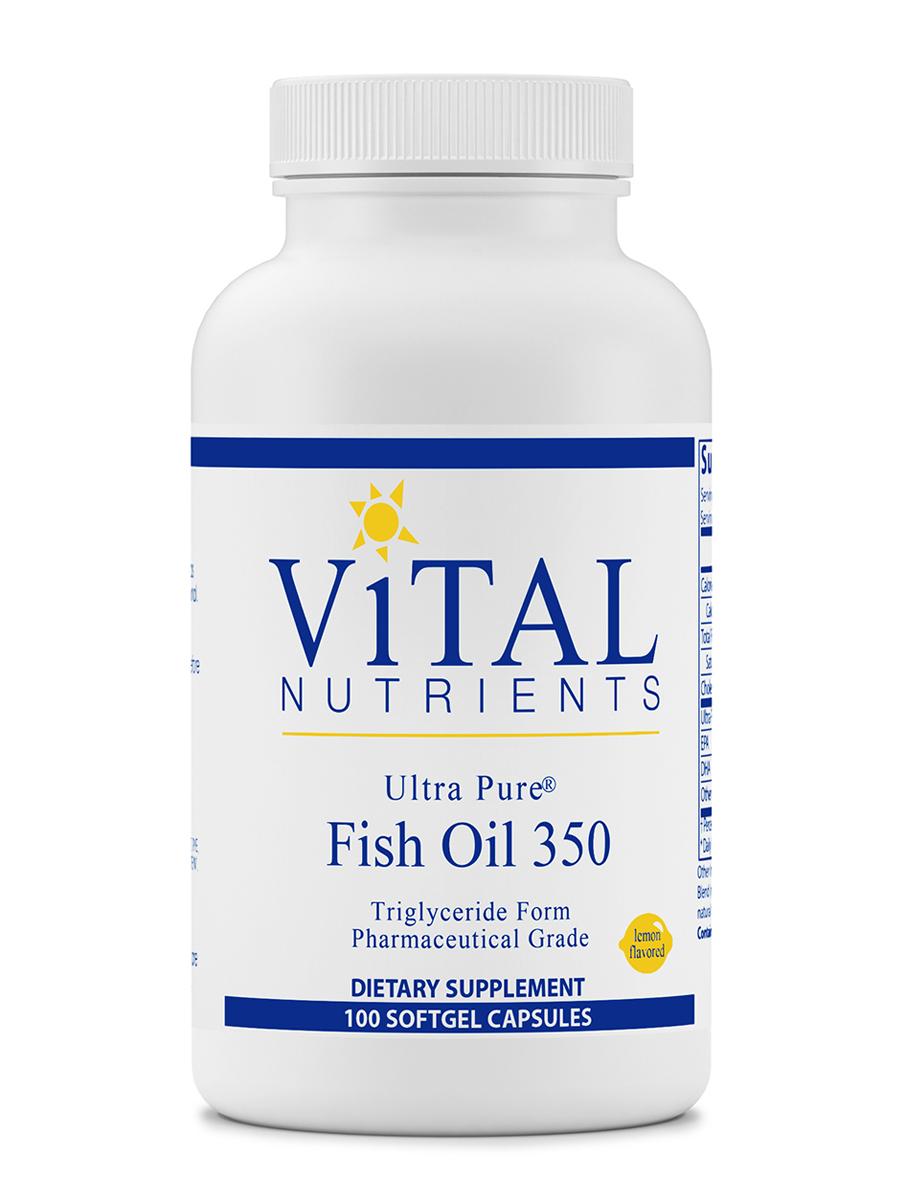 Ultra pure fish oil 350 lemon flavor 100 softgel capsules for Freezing fish oil