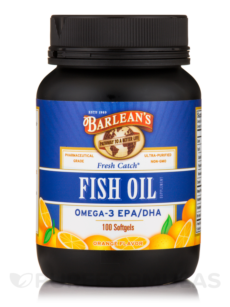 Fresh Catch® Fish Oil Omega-3 EPA/DHA, Orange Flavor - 100 Softgels