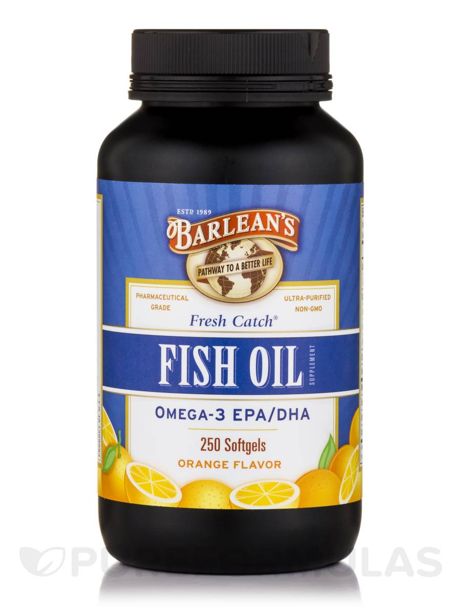 Fresh catch fish oil omega 3 epa dha orange flavor 1000 for Epa dha fish oil